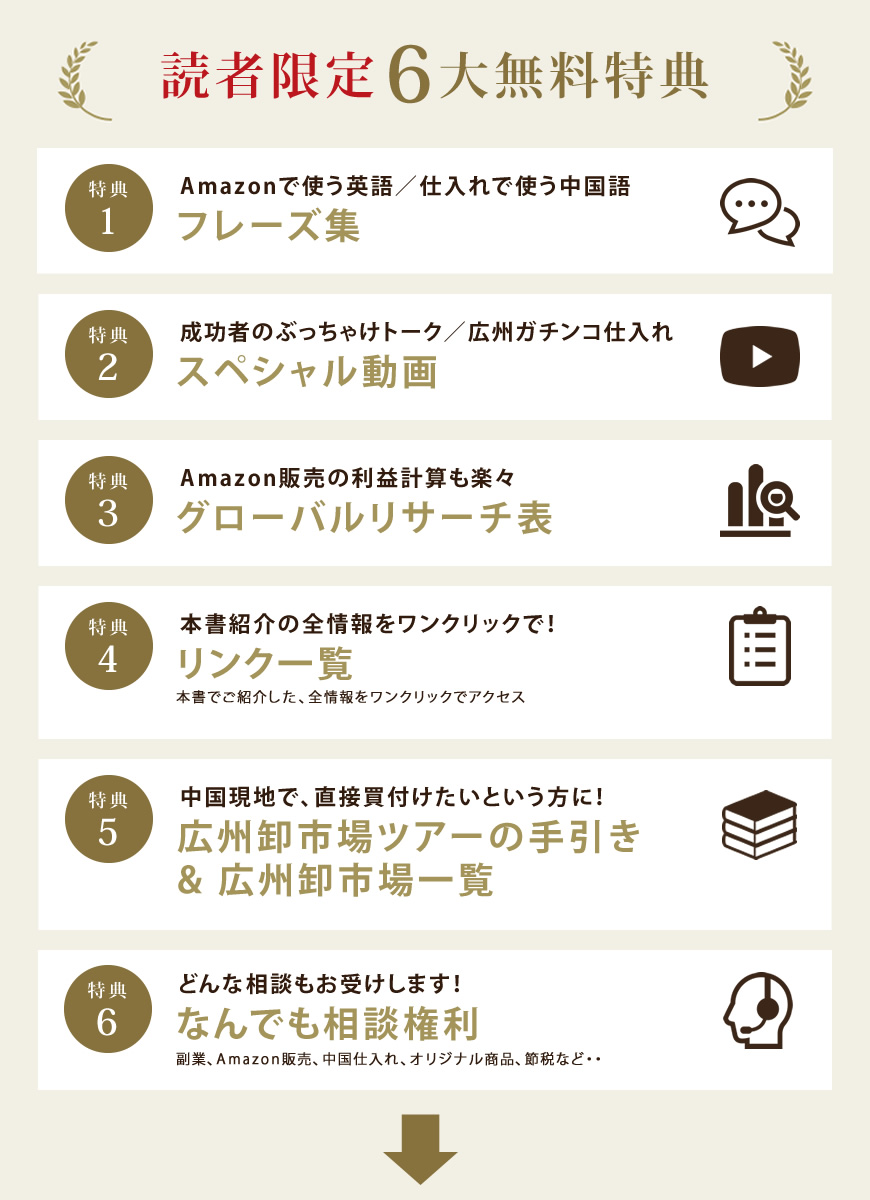 読者限定6大無料特典